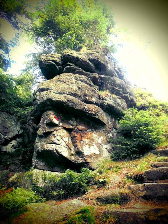 Felsabtragungen im Böhmerwald