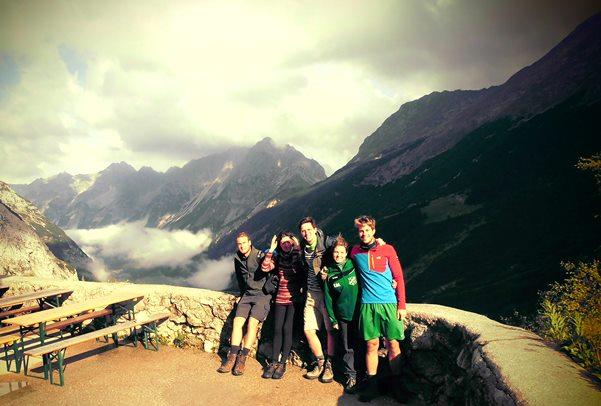 Terrasse am Karwendelhaus
