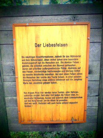 Der Liebesfelsen im Böhmerwald