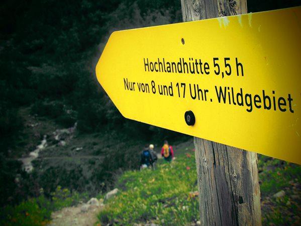 Nächstes Etappen-Ziel: Die Hochlandhütte