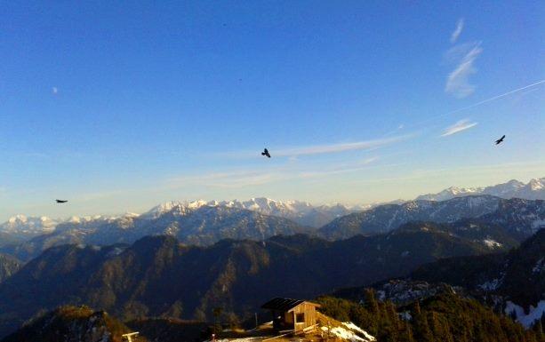 Aussicht vom Hochfelln im Chiemgau, Alpen
