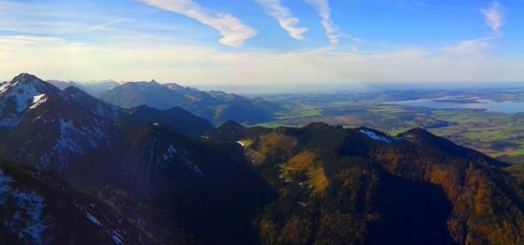 Aussicht auf den Chiemsee, Chiemgauer Alpen