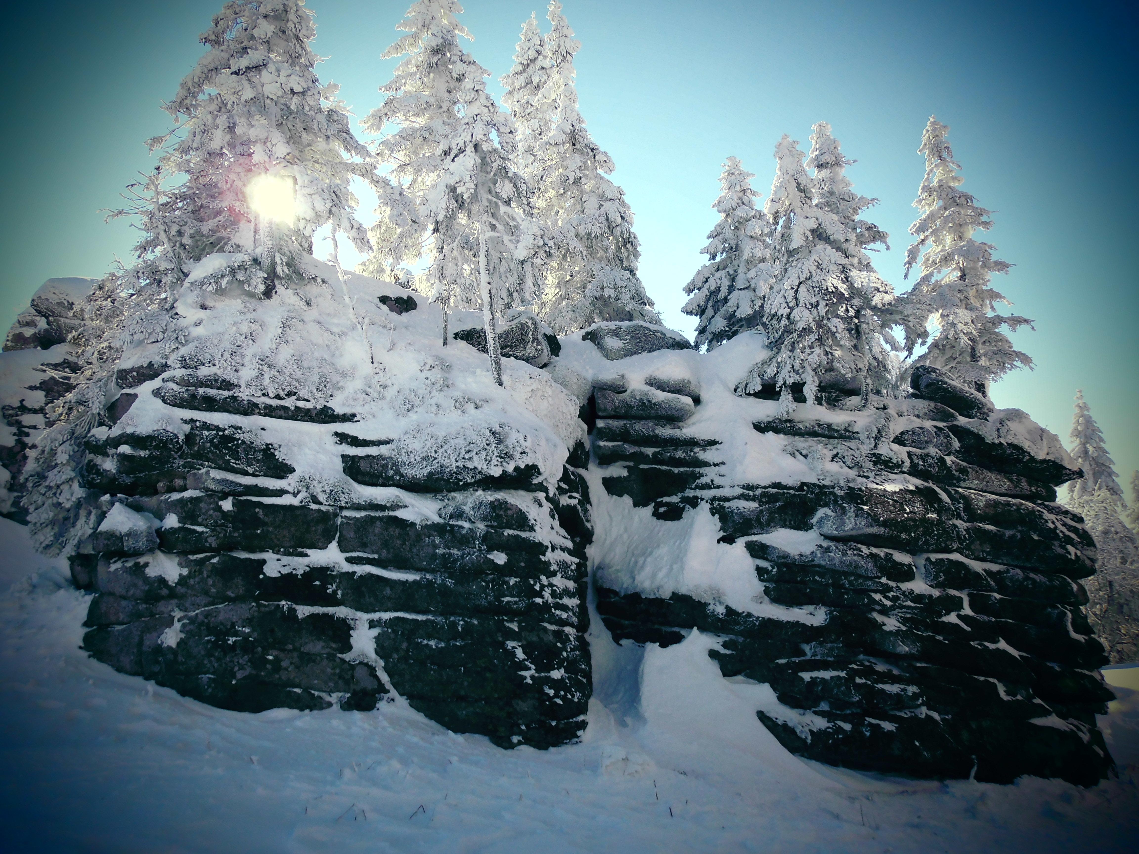 Schnee am Dreisessel, Bayerischer Wald