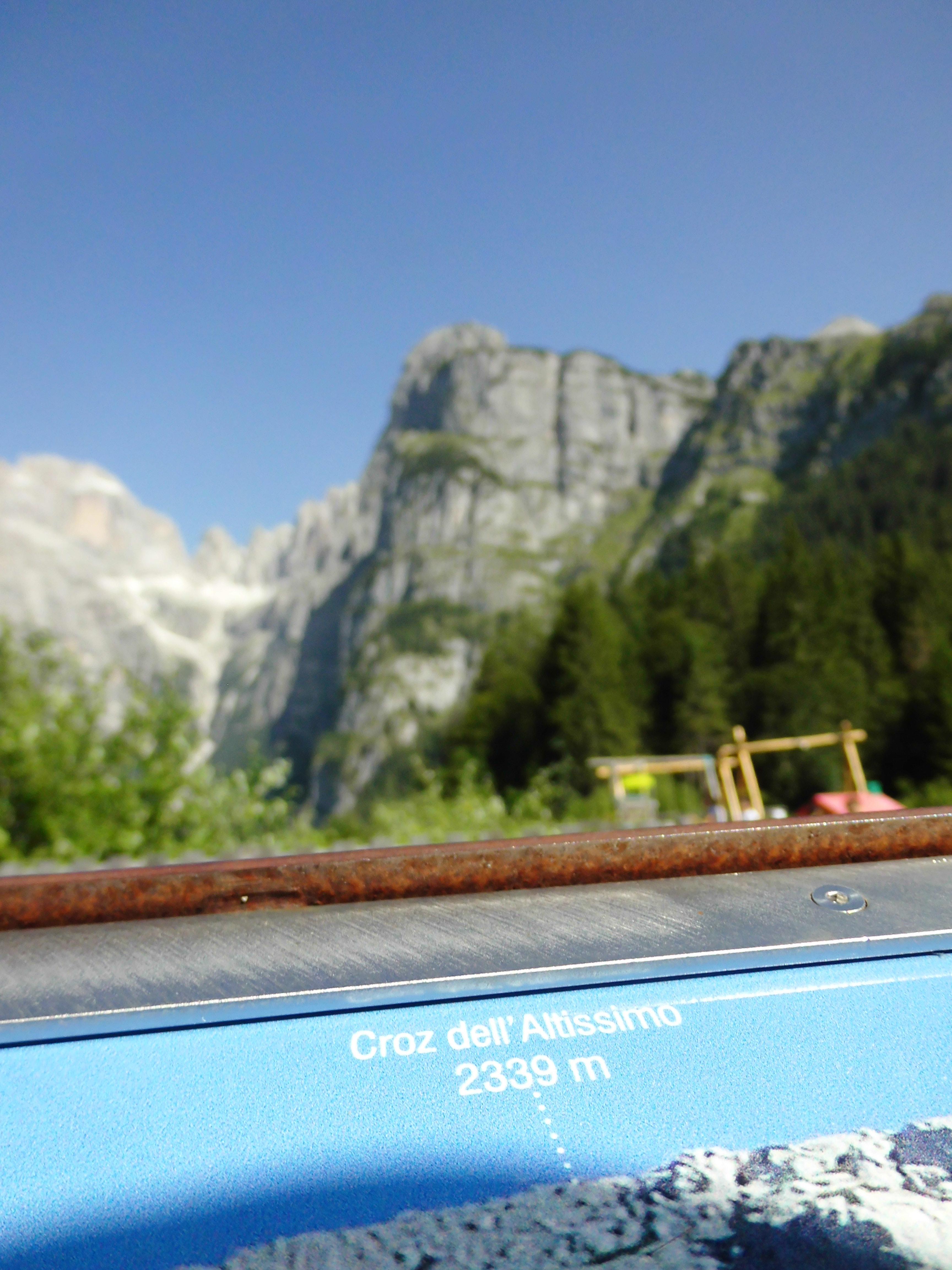 Der Gipfel des Croz de'll Altissimo in den Brenta Dolomiten.