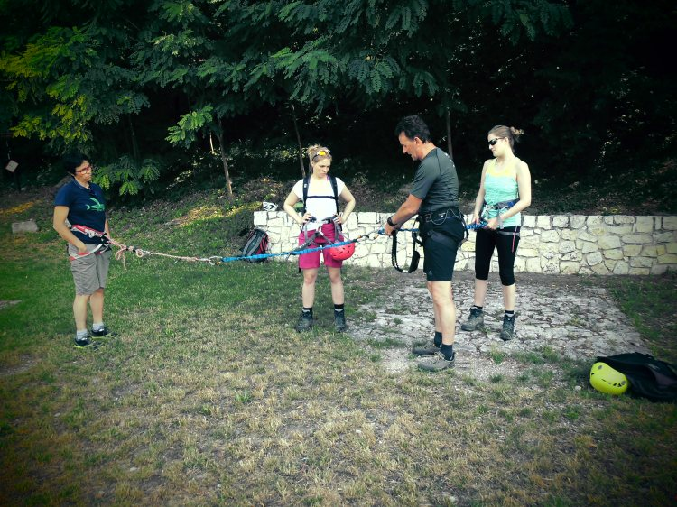 Klettersteig Einführungskurs in den Brenta Dolomiten