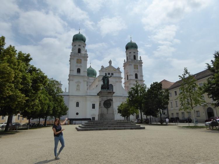Domplatz in Passau, St. Stehans Dom