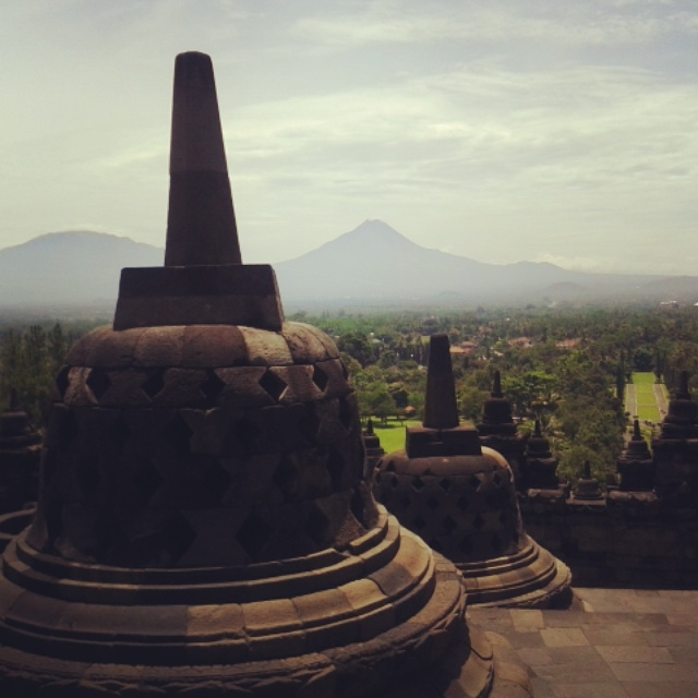 Borobudur auf Java, Indonesien