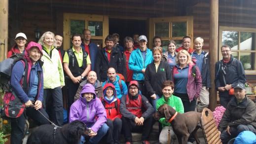 gruppenfoto bloggerwandern westerwald
