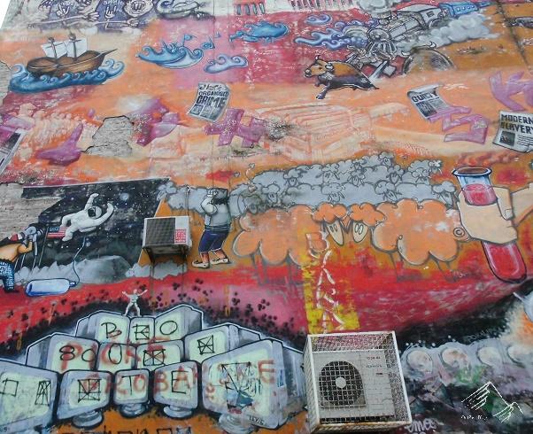 Häuserwand in Belgrad, Streetart