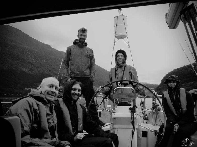 Die Crew, Stongfjorden, Norwegen