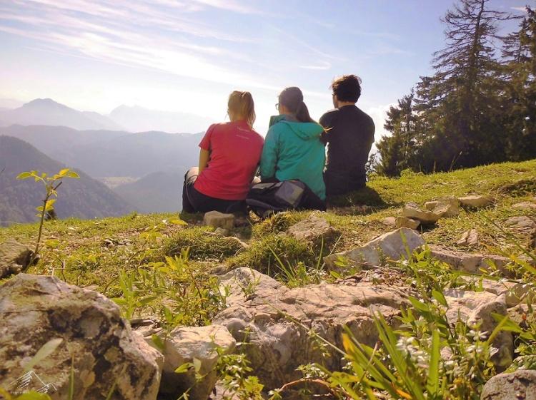Auf dem Hochgern in den Chiemgauer Alpen.
