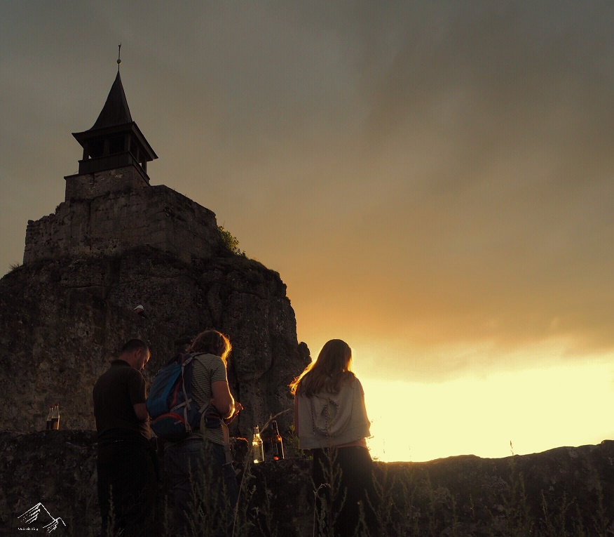 Sonnenuntergang Burg Hohenstein