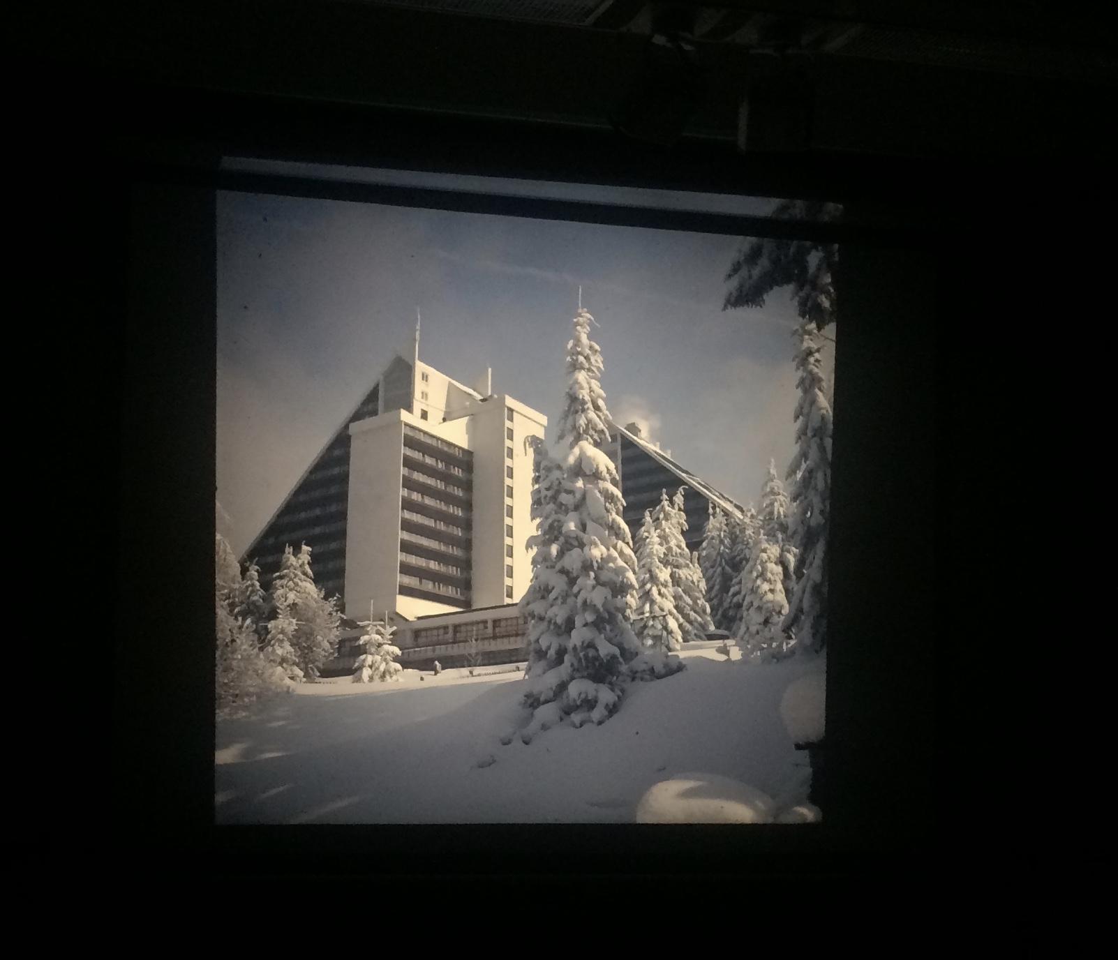 Tiefe Winter in Oberhof: Das Pano kurz nach seiner Fertigstellung.