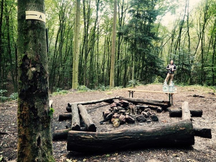 Feuerstelle am Pfälzer Trekkingplatz