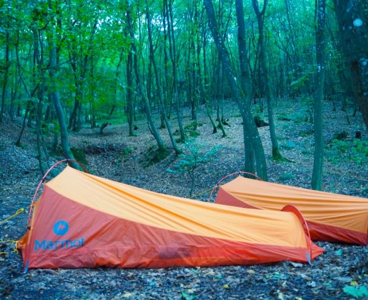 Hier wird geschlafen: Trekkingplatz Imsbach