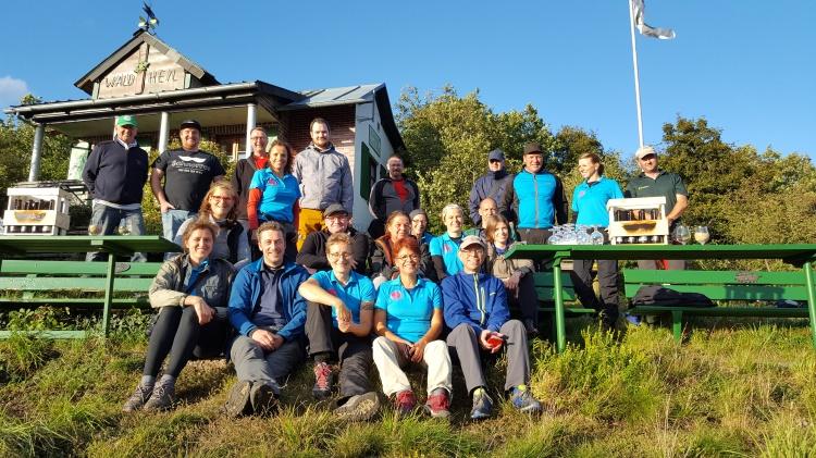 Gruppe #bloggerwandern 2017 in der Pfalz