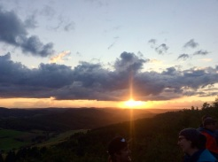 Sonnenuntergang in der Pfalz an der Kupferberghütte