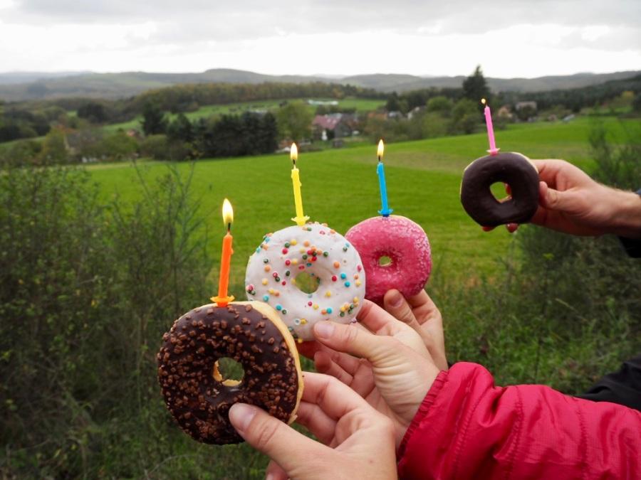 Geburtstagsfeier und Wanderpause im Sahrbachtal, Eifel