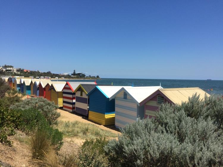Badehäuser Brighton Beach in Melbourne, Australien