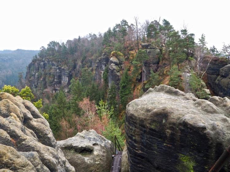 Der Kammweg über die Schrammsteine in der Sächsischen Schweiz
