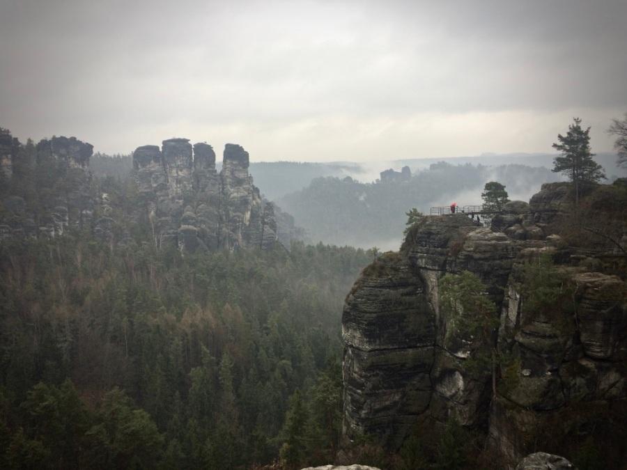 Elbsandsteintürme an der Bastei, Sächsische Schweiz