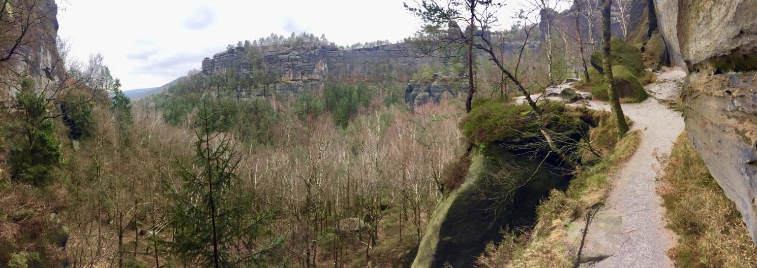 Auf dem Schrammsteingratweg, Sächsische Schweiz