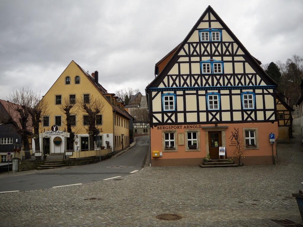 Hohnstein Gasthäuser im Winter