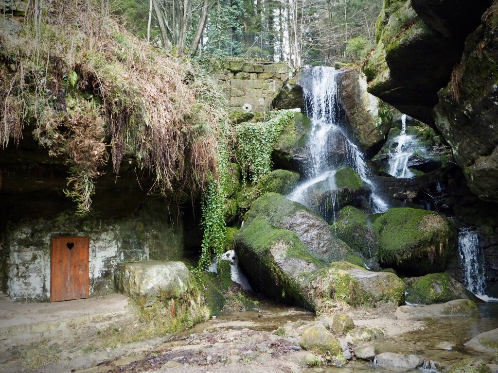 Lichtenhainer Wasserfall in der Sächsischen Schweiz