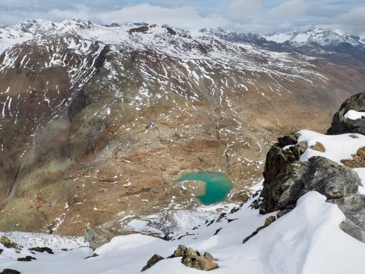 Gletschersee im Schnalstal, den Ötztaler Alpen