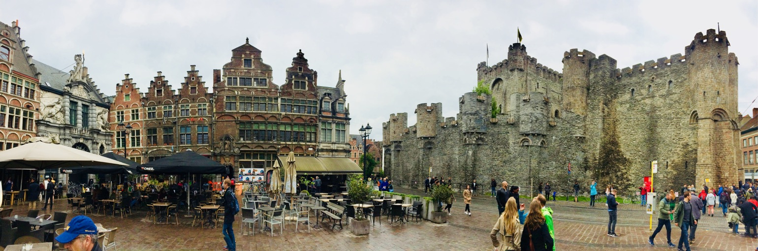 Die Grafenburg (Gravensteen) in Gent