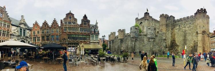 Die Grafenburg (Gravensteen) in Gent